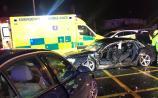Two hospitalised after car crash in Limerick city