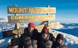 John, Matthew and James Cannon, Annacotty, at the summit