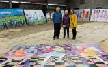 Brushing up for Electic Picnic: Barbara, Clare and Leslie Hartigan's artistic talents will be on display this weekend in Stradbally