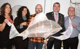 Kate Hodmon, Giordana Giache, Martin Shannon, Mayor James Collins and Gerry Kirby at the launch of Samhain in Fab Lab