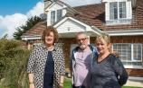 Senator Maria Byrne, with Leonard and Majella Croxton, whose home has been affected by pyrite, below