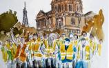 Eric Duhan is using his talent for painting to capture dramatic scenes from the yellow vest protests in France