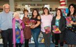 Roisin Meaney with writers from the Le Cheile creative writing class, Tim O'Connor, Noirin De Barra, Gillian McNamara, Joanne Walsh, Maria Russell and Julianne Hennelly