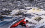 Billy Brett, Irish Freestyle Kayak Team member, in action on the falls Picture Mark Kearney