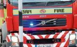 WATCH: Fire crews tackle Christmas morning blaze near Limerick border
