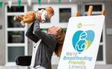 Karen O'Donnell and Ryan at the launch of We're Breastfeeding Friendly Picture: Alan Place