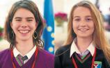 Céití Ní Mhathúna, from Laurel Hill Coláiste, and pictured on the right is Megan Ní Laighin, from Gaelcholáiste Luimnigh