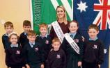 Melbourne Rose meets one for the future in her old County Limerick school