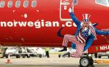 'Uncle Sam' at the start of Norwegian's flights from Shannon to the US in July Picture: Diarmuid Greene/True Media