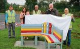 New buddy bench built by Limerick men's shed group gets thumbs up!
