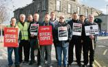 Irish Rail protest in Limerick: second day of strike action