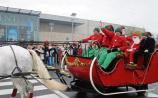 Santa arriving at the Crescent Shopping Centre last year