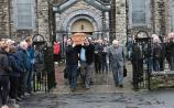 """Catherine Danaher and her murdered partner are """"together again where there will be no more pain, tears, or death"""", Canon Tom Ryan said at her funeral Mass"""
