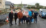 Tim Long, Mary O'Neill, Richard Harty, Tracy Harty, Billy Harty, Tim Harty and Michael Harty argue the footpath should be on the left so children from houses don't have to cross the road