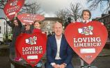 Paul O'Connell was joined by pupils, Hannah Noonan, 6, Amy Lane, 5, Ella Byrne, 5 and Sadhbh Galvin, 6 from Scoil Iosaf Girls' NS at The Red Door Gallery, Newcastle West to launch TLC4
