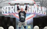 Wow!: Pa O'Dwyer in action at the Ireland's Strongest Man contest in Bangor for the third year in a row