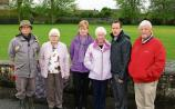 Residents at the Upper Carey's Road, pictured with local councillor Joe Leddin, oppose further building in their area