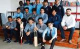 The CBS Sexton Street Cricket team with teacher LLoyd Woulfe Picture: Michael Cowhey