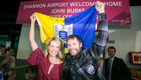 WATCH: Everest conqueror John Burke receives heroes welcome at Shannon Airport