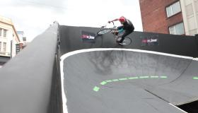 WATCH: Spectacular street velodrome attracts cyclists to Limerick city centre