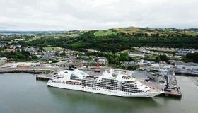 The cruise ship, the Seabourn Quest, docked in Foynes Picture: Cormac Hayes