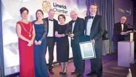 Overall winners, the Shannon Group were double winners at the 2018 Limerick Chamber Business Awards