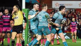 Five star Munster score bonus point win at Gloucester