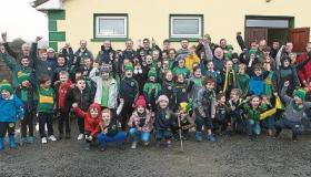 On a rainy Tuesday afternoon in February this is just some of the crowd who came out to show their support for Cappamore's junior b team ahead of the All-Ireland final on Saturday