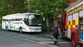 #WATCH: Passengers have lucky escape following Limerick bus fire