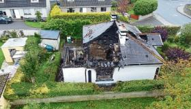 #WATCH: Dramatic photographs show extent of damage caused in Limerick house fire
