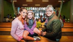 Deirdre and Shauna Elliman and Mary Noonan at the Family Fun Day in Mary Immaculate College Picture: Keith Wiseman