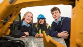 Kate O'Mahoney, Emma Duggan and Eoghan Geraghty at the fair
