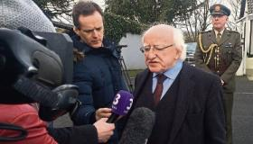 President Michael D Higgins pays last respects to Limerick's Dolores O'Riordan