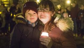 Sarah and Zac Kiely at the vigil for Dolores O'Riorda in Arthur's Quay Park Pictures: Press 22