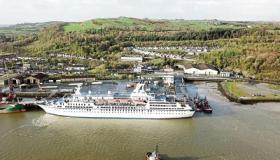WATCH: Boost for Limerick as cruise ship MV Astordocks at Foynes Port