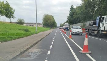 New cycle path on the way to Limerick