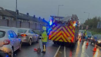 Gardai investigate three car collision in Limerick