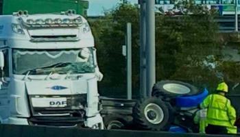 BREAKING: Crash between tractor and truck in Limerick