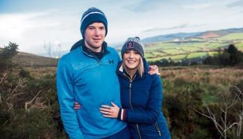 Louise Cantillon and Limerick captain Declan Hannon point the way to the Ballyhouras