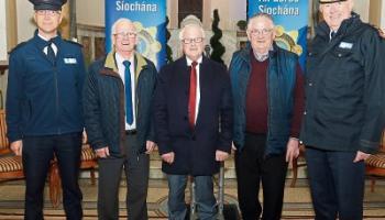 Bruff Superintendent Brian Sugure, Paddy Hyland, Cllr Eddie Ryan, Dick Finn and Chief Superintendent Gerry Roche Picture: Brendan Gleeson