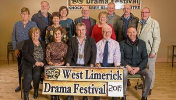 The West Limerick Drama Festival Committee with Cathaoirleach John Sheahan, Tom Neville, T.D., and councillors Jerome Scanlon, Michael Collins and Francis Foley at the launch of the festival