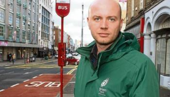 Green Party local election candidate Breandán MacGabhann will be discussing his findings with Bus Eireann Picture: Adrian Butler