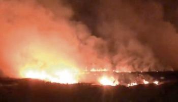 WATCH: Limerick fire crews attend scene of gorse fire