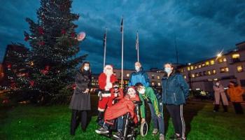 Courageous Dáithí lights up Christmas tree at University Hospital Limerick
