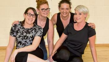 Les Mad Dams: Aimee Grigg, Mareta Mullane, Shirley Foley and Deirdre Whelan ready for the lip sync battle