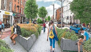 This striking impression of O'Connell Street by Conor Buckley was a contribution to the Liveable Limerick debate around the future of the city's main thoroughfare