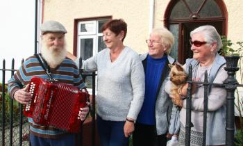 WATCH: Limerick busker's joy at special delivery from 'home of accordions'