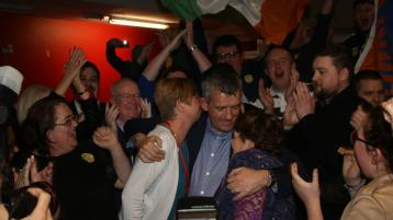 WATCH: Maurice Quinlivan reacts after topping poll in Limerick city