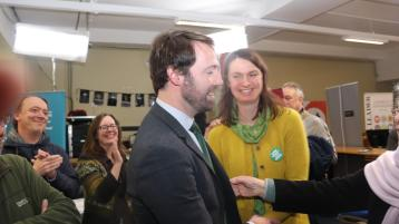 WATCH: Green Party's Brian Leddin rejoices after historic victory