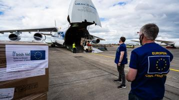 Cargo of vital life-saving equipment and PPE departs Shannon for Nepal